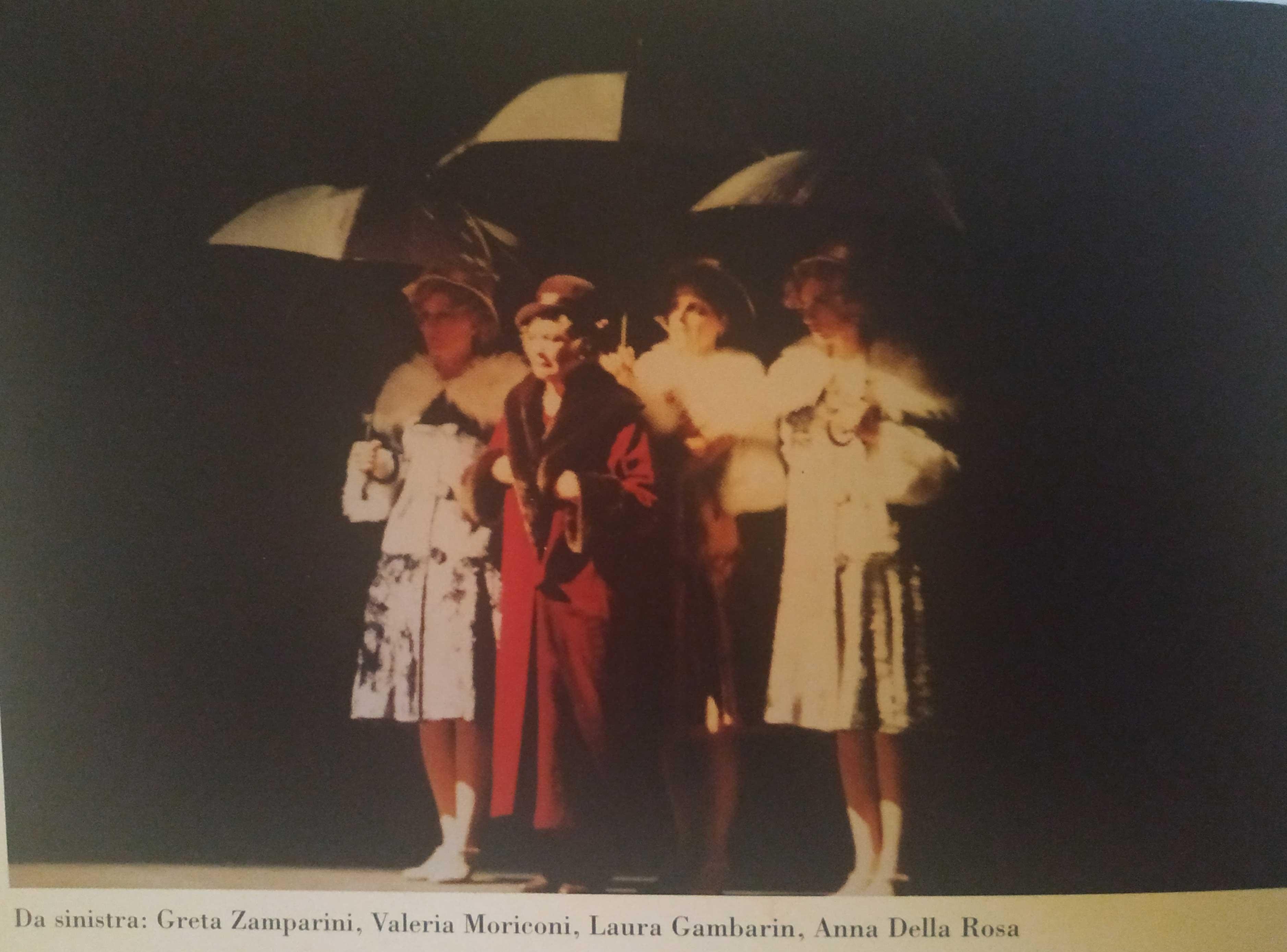 From left Greta Zamparini, Valeria Moriconi, Laura Gambarin, Anna Della Rosa